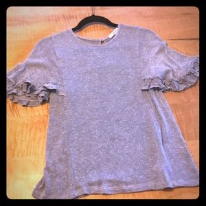 Anthropologie RO&DE silver grey sweater sz Small